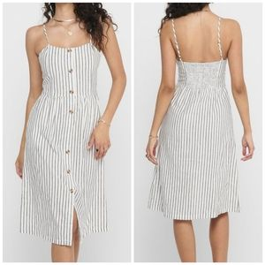 ONLY striped cotton dress